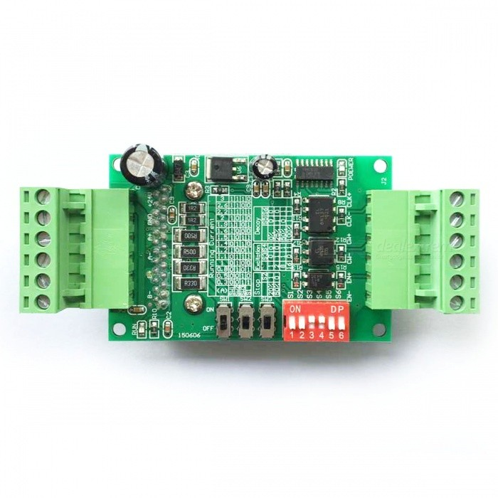 TB6560 3A Single-Axis Stepper Motor Driver Board Controller - Green (DC 10~35V) yako stepper servo drive ssd2608h voltage dc30 110v ac20 80v modular hybrid closed loop stepper driver 3000r min