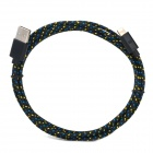 USB to 8-Pin Lightning Data / Charging Braided Cable for iPhone 5 / iPad Mini - Black (2M)