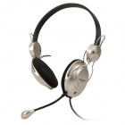 Cosonic CT-625 Stereo Headphones w/ Microphone - Black + Champagne (210cm-Cable / 3.5mm Plug)
