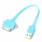 USB 2.0 to Micro USB / 8pin Lightning / 30pin Data Cable for iPhone 5 / 4S / Samsung i9500 - Blue