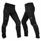 ROSWHEE Outdoor Cycling Windproof Warm Keeping Trousers - Black (Size-L)