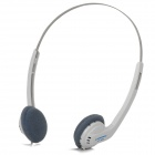 COSONIC CT-350 Stylish Headphones w/ Microphone - White + Silver (210cm-Cable / 3.5mm Plug)