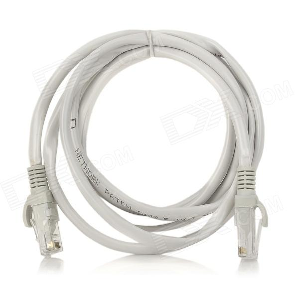 CAT 5E RJ45 macho a macho Cable - red gris blanco (150cm)
