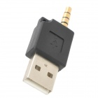 USB to 3.5mm Plug Charging Adapter for Ipod Shuffle 2 / 3 - Black