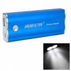 FPB-5600 5V 5600mAh Portable Li-ion Polymer Battery Power Bank w/ 2-LED for iPhone 5 / 4 / 4S - Blue