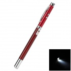Compact 4-in-1 rote Laser + Kugelschreiber + LED Light + Retractable Pointer - Rot (3 x LR41)