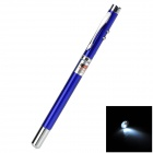 Compact 5-in-1 Red Laser + Ball Point Pen + LED Light + Retractable Pointer - Blue (3 x LR41)