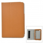Protective PU Leather + Micro Fiber Holder Case for Huawei S7-931 7Lite - Brown