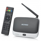 Quad Core Android 4.2.2 TV Player W / 2GB RAM / ROM 8 Гб / TF / HDMI / AV / RJ45 - черный + серебро