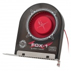 EVERCOOL SB-F1 PCI Slot System Bearing Blower Fan - Black + Red + Silver (DC 12V)