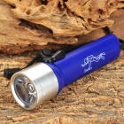 LZZ-02T 3w 100LM White Light 1-LED Diving Flashlight - Blue + Silver (4 x AA)