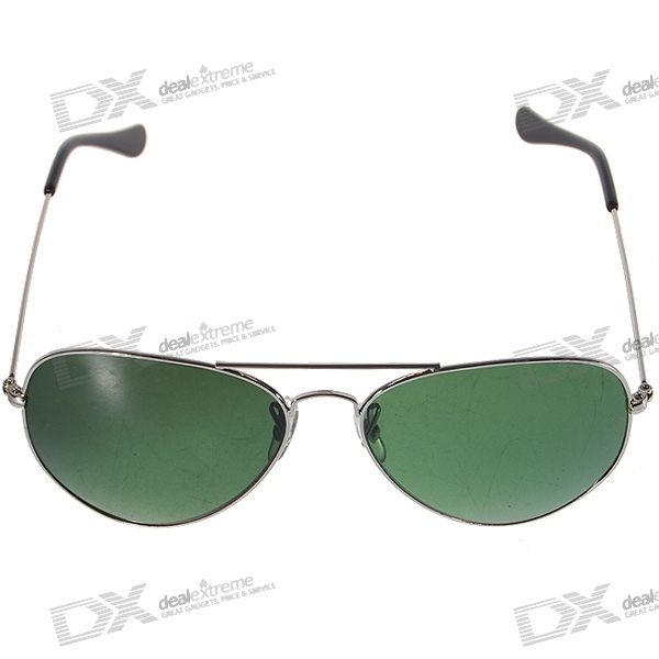 Tempered Glass Alloy Frame Sunglasses with UV400 UV Protection