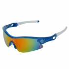 INBIKE IG319 Outdoor Cycling UV Protection Sunglasses w/ Replacement Lens - Blue + White