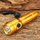 LZZ-C3 XP-E Q5 3-Mode 160lm Cool White 1-LED Flashlight - Golden (1 x 18650)
