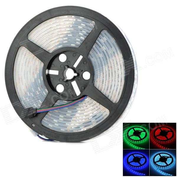 JZ-5050 Waterproof 72W 4300lm 300-SMD 5050 LED RGB Light Strip - Black + White (12V / 5m)5050 SMD Strips<br>ModelJZMaterialGlassForm  ColorWhiteQuantity1Power2WChip BrandOthersEmitter TypeLEDTotal Emitters300Color BINRedColor TemperatureNoWavelength635~640Power AdapterOthersPacking List1 x Soft LED light strip<br>