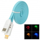 Flashing Smile USB 2.0 Male to Lightning 8-Pin Data Charging Cable - Light Blue (100cm)