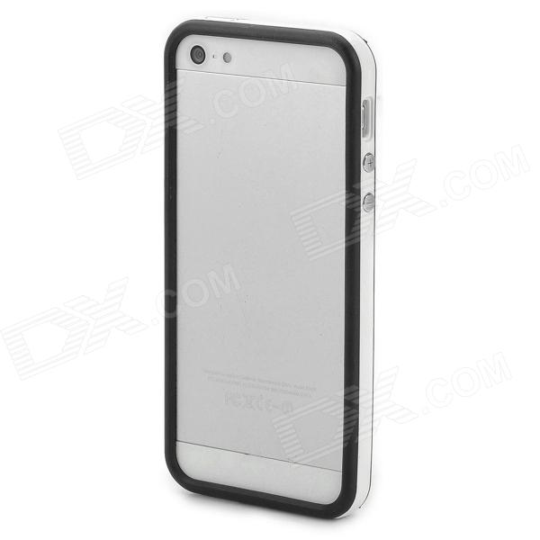 Protective TPU Bumper Frame w/ Buttons for Iphone 5 - Black + White