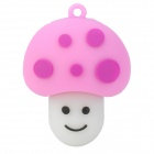 Cute Cartoon Mushroom Style USB 2.0 Flash Drive - White + Pink + Purple (16GB)