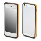 Protective TPU Bumper Frame w/ Buttons for Iphone 5 - Orange + Black