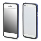 Protective TPU Bumper Frame w/ Buttons for Iphone 5 - Deep Blue + Black