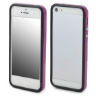 Protective TPU Bumper Frame w/ Buttons for Iphone 5 - Purple + Black