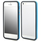 Protective TPU Bumper Frame w/ Buttons for Iphone 5 - Blue + Black