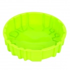 DIY 20cm Round Shape Silicone Bread Cake Chocolate Module - Green