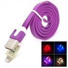 USB 2.0 Male to Lightning 8-Pin Male Data Charging Cable - Purple (100cm)
