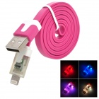 USB 2.0 Male to Lightning 8-Pin Male Data Charging Cable - Deep Pink (100cm)
