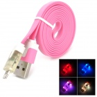 USB 2.0 Male to Lightning 8-Pin Male Data Charging Cable - Pink (100cm)