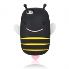 Cute Smile Bee Style Protective Silicone Back Case for Iphone 5 - Black + Yellow + Pink