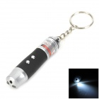 ZJ-03 3-in-1 1.5mW Red Laser w/ LED Flashlight Keychain - Black + Silver (3 x LR44)