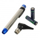 Medical Flashlight / Ear Speculum Pen w/ Scale - Silver + Blue + Black (2 x AA)