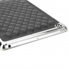 Checked Pattern Ultrathin Protective PU Leather + Plastic Back Case for Ipad MINI - Black + Silver