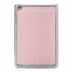 Checked Pattern Ultrathin Protective PU Leather + Plastic Back Case for Ipad MINI - Pink + Silver