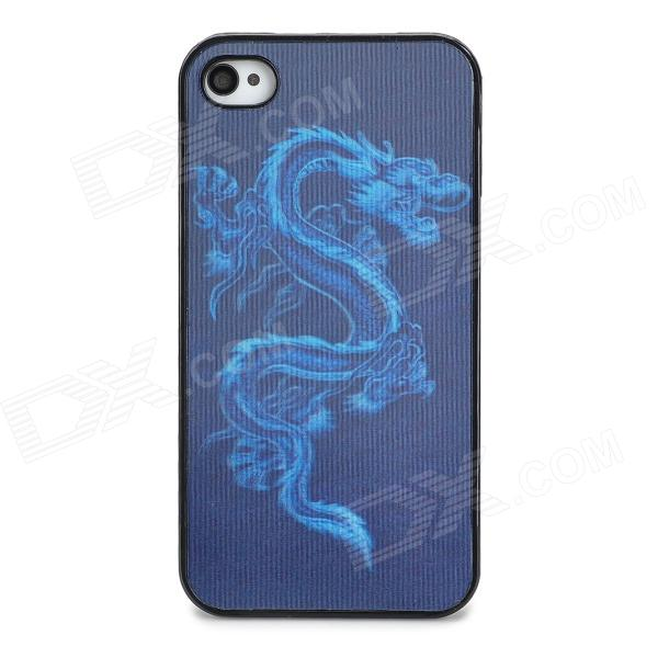 все цены на Protective 3D Dragon Pattern Plastic Back Case for Iphone 4 - Black онлайн