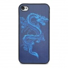 Protective 3D Dragon Pattern Plastic Back Case for Iphone 4 - Black