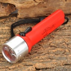 LZZ-02T 3W LED 100lm White Diving Flashlight w/ Strap - Red + Silver (4 x AA)