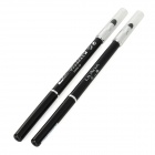 S9908-5 Waterproof Make-up Automatic Eyeliner Pencil w/ Sponge Head - Black (2 PCS)