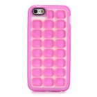 Protective Soft Bubble TPU Back Case for Iphone 5 - Deep Pink