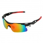 CARSHIRO T9358-C8 Cycling UV400 Protection Polarized PC Frame Resin Lens Sunglasses - Black + Red