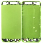 Replacement Hard Metal Back Battery Cover Case for iPhone 5 - Green + Black