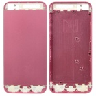 Replacement Aluminum Alloy + Glass Back Cover Housing Case for iPhone 5 - Pink + White