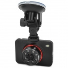"HD 1080P 1/3 CMOS 2.5"" Touch Screen Wide Angle Car DVR w/ 8-IR Night Vision LED - Black"