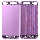 Replacement Aluminum Alloy + Glass Back Cover Housing Case for iPhone 5 - Purple + Black