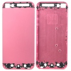 Replacement Aluminum Alloy + Glass Back Cover Housing Case for iPhone 5 - Pink + Black
