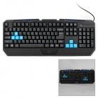 Motospeed K60D USB 2.0 Kabel 104-Key Gaming Keyboard w / Backlight - Schwarz (140cm-Kabel)