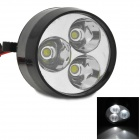 W1 80V 6W 400lm 6000k 3 LEDs Universal Water-resisting White Lamp for Motorcycle - Silver