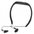 T-20 Sport Waterproof Rechargeable In-Ear Headphone MP3 Player w/ FM Radio - Black (8GB)