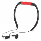T-21 Sport Waterproof Rechargeable In-Ear Headphone MP3 Player w/ FM Radio - Red + Black (8GB)